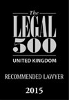 Legal 500 Recommended Lawyer 2015 (1)